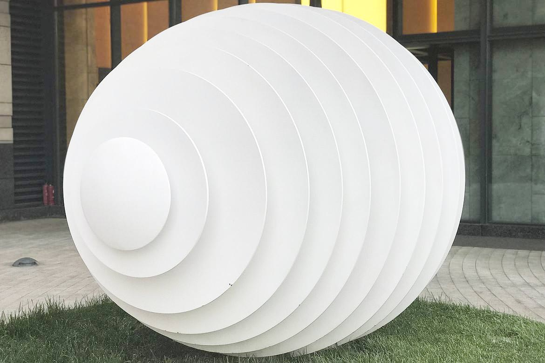 剪纸镂空样式不锈钢雕塑蛋